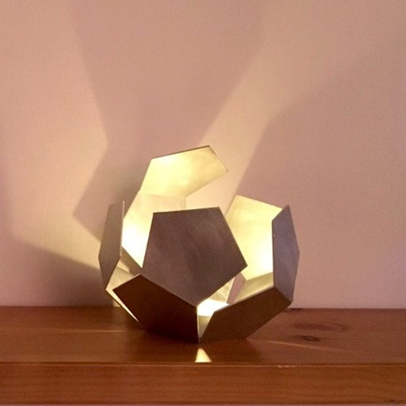Open Dodecahedron  Tea light holder  Lantern  Metal DC30 (original) 10 cm