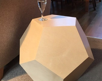 DODEC Side table | unusual geometric table | Dodecahedron