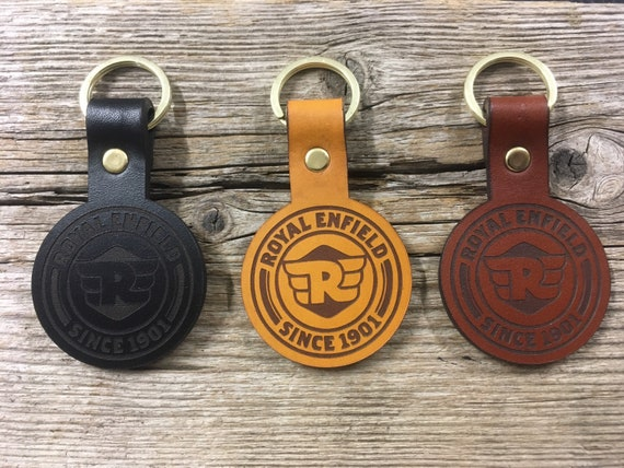 Royal Enfield keychain keyring leather Personalized keychain.