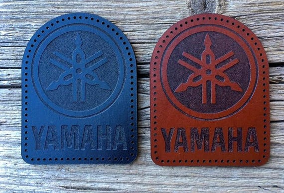 Domed Top Version Leather sew on Yamaha Motorcycle Patch