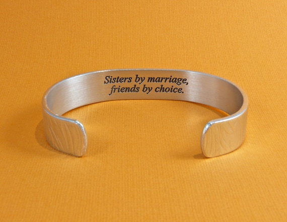 Gift For Sister In Law Wedding: READY TO SHIP Sister-In-Law Gift Sisters By Marriage