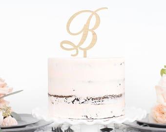 Monogram Cake Topper || personalized wedding cake topper name cake topper custom wedding unique cake topper  cake topper 03-001-056