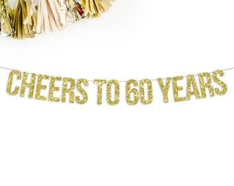 Cheers To 60 Years Banner