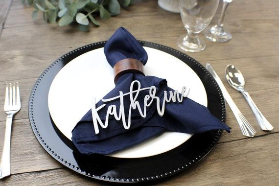custom place setting names place setting wedding place etsy