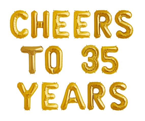 Cheers To 35 Years Balloons 35th Birthday Anniversary Party