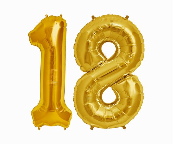 18 Balloons 18th Birthday Party Decorations Jumbo Letter