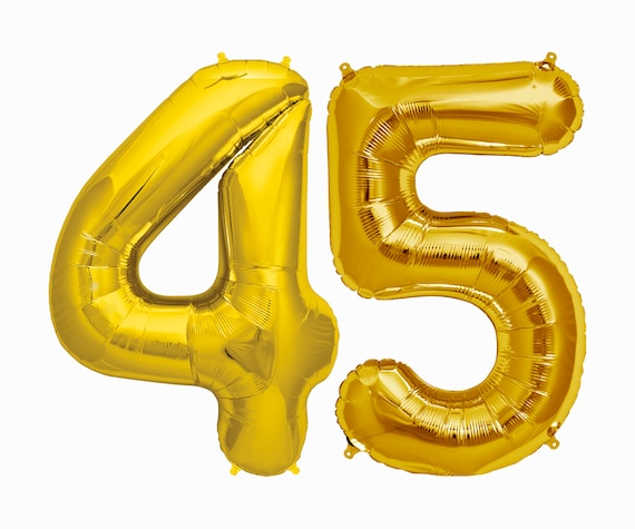 45 Balloons 45th Birthday Party Decorations Jumbo Letter