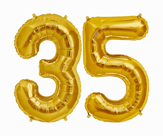 35 Balloons 35th Birthday Party Decorations Jumbo Letter
