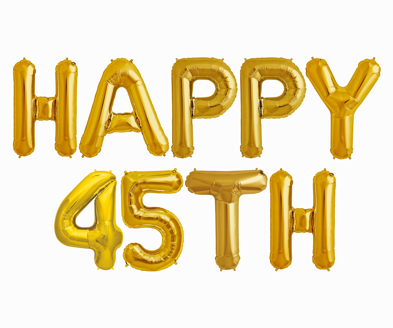 Happy 45th Balloons Birthday Anniversary Party