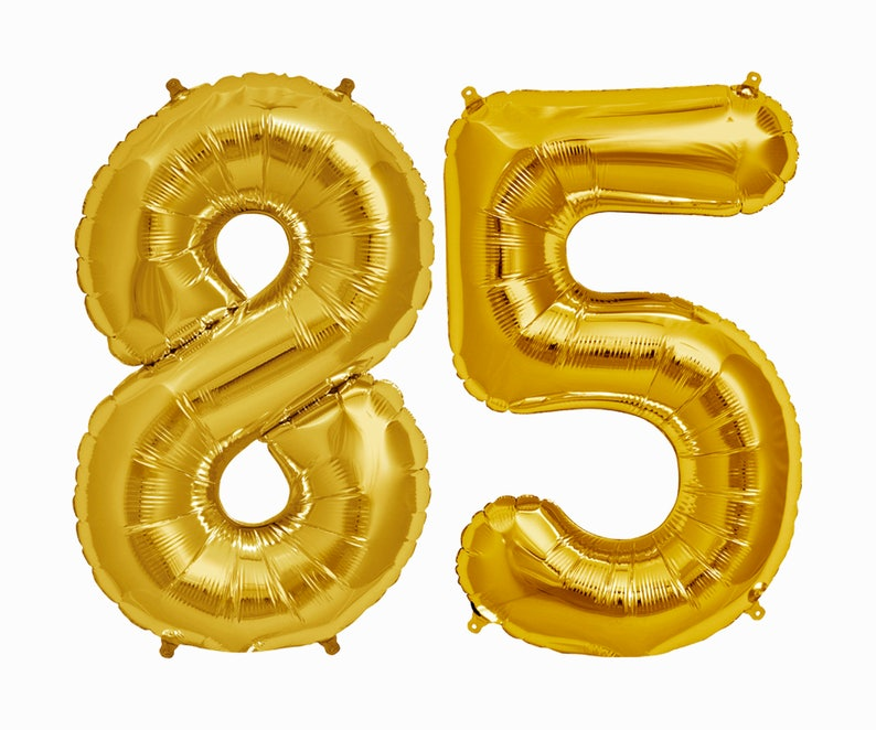 85 Balloons 85th Birthday Party Decorations Letter Balloon