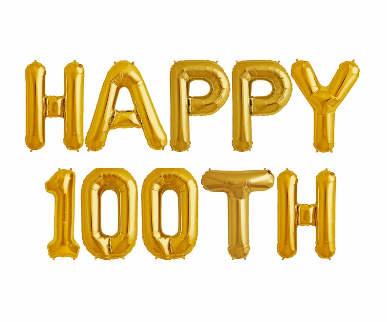 Happy 100TH Balloons 100th Birthday Party Decorations