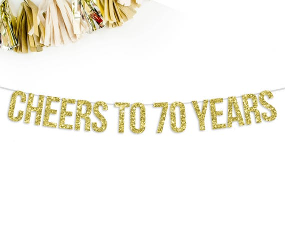 Cheers To 70 Years Banner