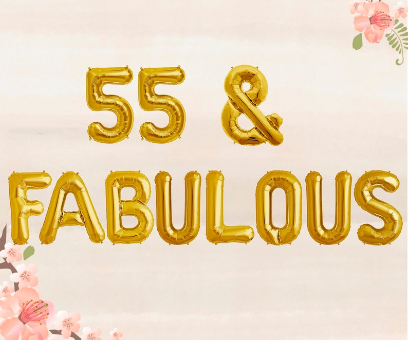 55 Fabulous Balloons 55th Birthday Party Decorations