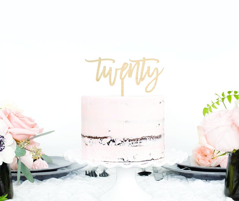 20th Birthday Cake Topper Party Decorations