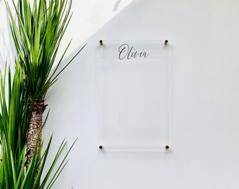 Personalized Dry Erase Board For Kids    chore chart children  dry erase board  clear acrylic homeschool girls boys 03-009-039
