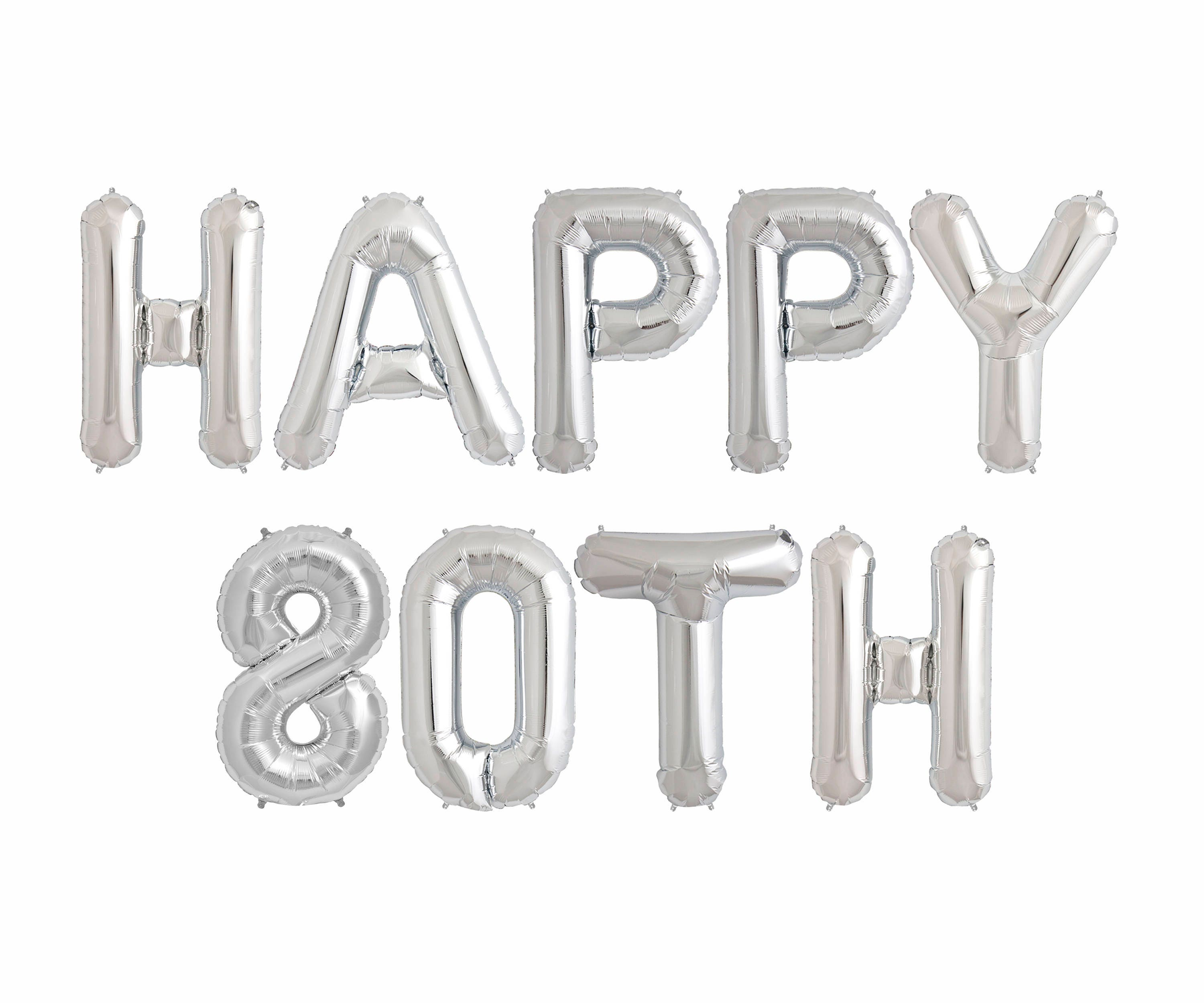 Happy 80TH Balloons 80th Birthday Party Decorations Ideas