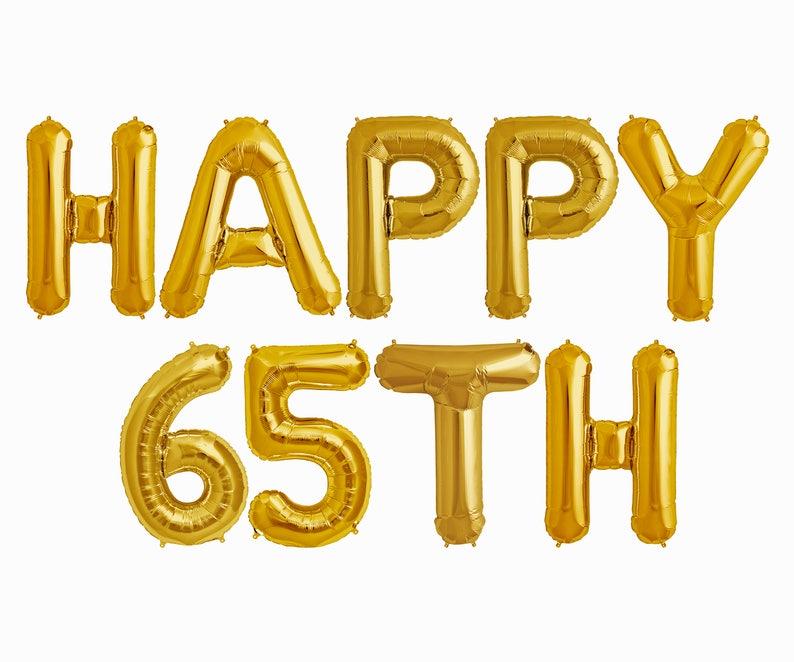 Happy 65th Balloons Birthday Anniversary Party