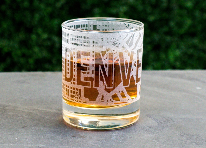 Source Denver Whiskey Glass Map Engraved Colorado State Gifts College Groomsmen Brother 21st Birthday Ideas For Him