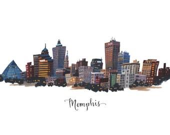 Memphis, Tennessee Skyline - Print