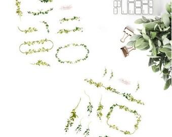 Green Vines Sticker Set