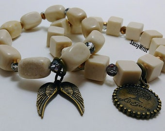 Charm Bracelets in Natural Stone