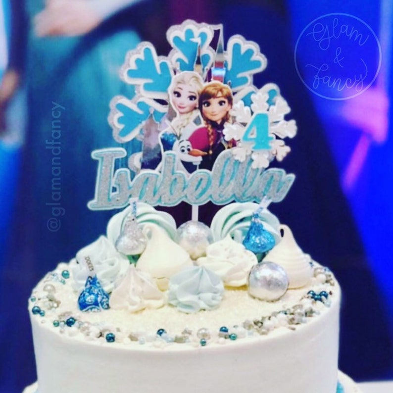 Frozen Elsa And Ana Cake Topper For Birthday Party