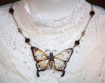 Butterfly Necklace Bronze/Gold 7, 5cm
