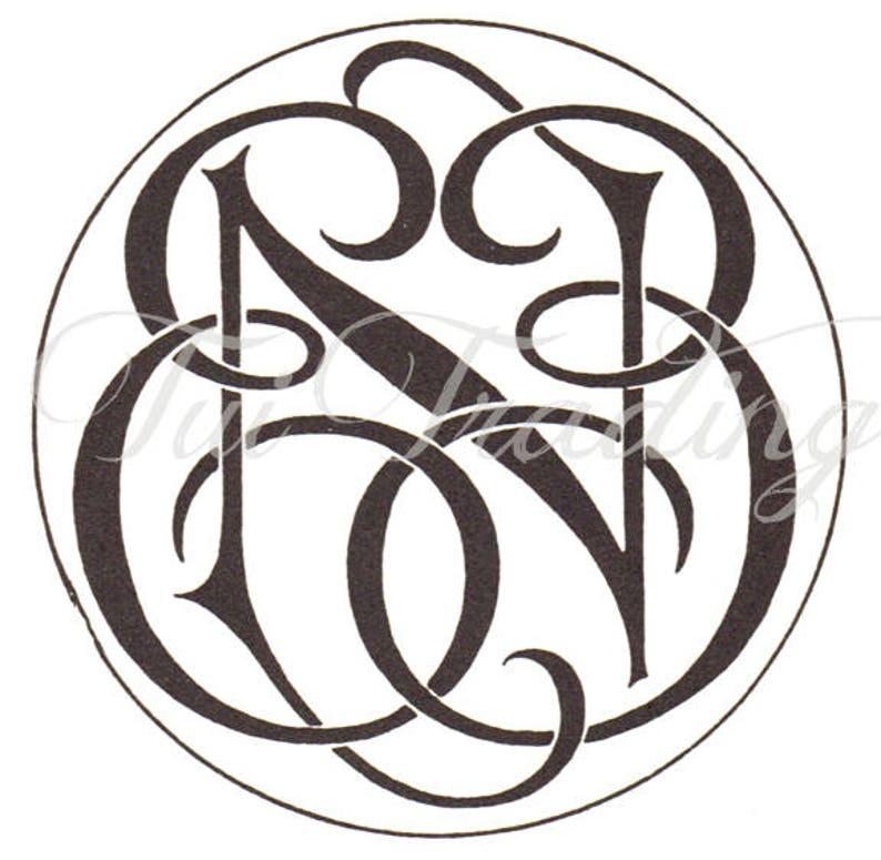 Svg Monogram Een Digital Letters Initials Clipart Antique