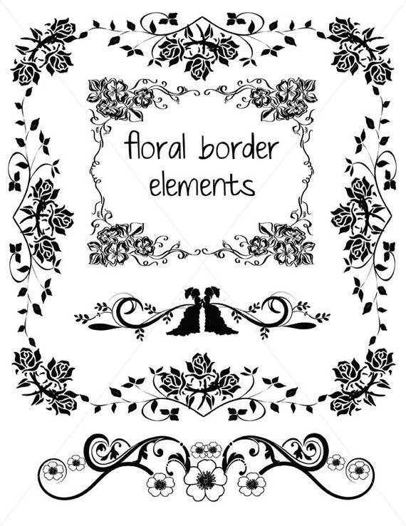 Vector Corbels Ornamental Corner Lines Flourish Borders Svg Etsy