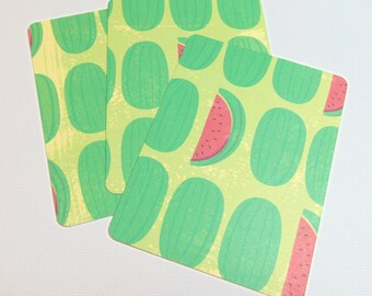 3x4 Watermelon Journal Cards Set of 3