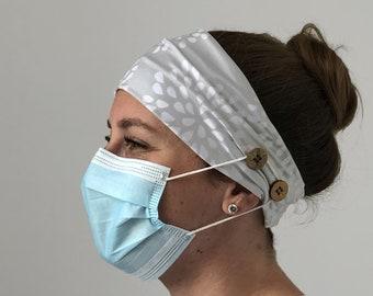 Headband printed Dotty flower nurse teacher dentist medical heroes