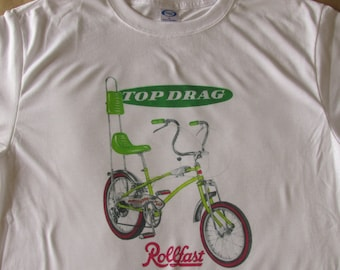 3ee0bcf88443 Rollfast Top Drag Muscle Bike Flamboyant Lemon Lime Graphic T-Shirt - Small  to 3XL - New - Cool Vintage Look - Vapor Apparel - Classic Bike