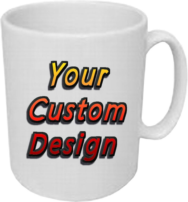 5dd7c4548b1 Custom 11 ounce white Coffee Cup Mug Personalize With Your | Etsy