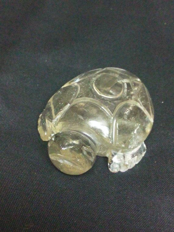 Tartaruga GRANDE in Quarzo Rosa Pietra dell/'Amore e Coppia Arredamento ANIMALI