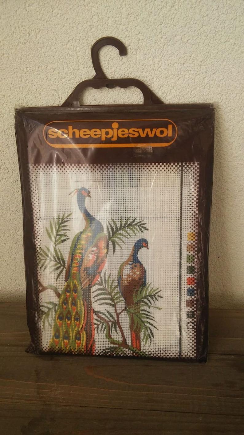 Complete embroidery set peacock seventies Scheepjeswol