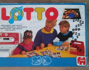 Vintage game sound lotto with cassette met cassette Jumbo