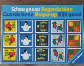 Vintage game  Shape-up Schau genau Kijk goe