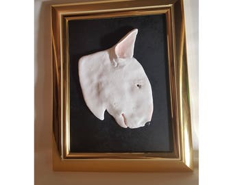 English bull terrier relief