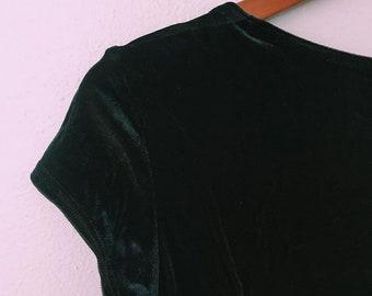 Vintage 90s shimmery velvet dress // velour party dress // All That Jazz Dress