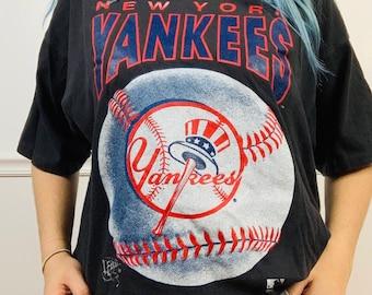 fc90cf97 Vintage 90s New York Yankees Graphic Tee // 1992 NY Yankees Baseball Gift  Tshirt