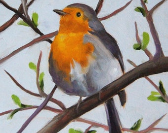 Bird, Original oil painting, Bird art