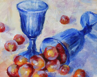 Original still life  painting, still life art, boba painting