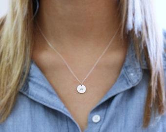 Joy pendant etsy joy necklace sterling silver round joy necklace joy pendant joy word necklace reversible necklace happiness jewelry choose joy aloadofball Gallery