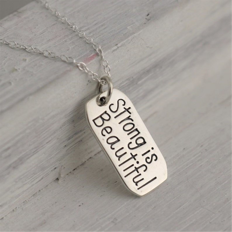 Strong Is Beautiful Necklace Inspirational Necklace for image 0