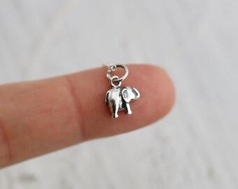 Elephant Necklace - Sterling Silver Tiny Elephant Necklace - Tiny Elephant Necklace -  Elephant Jewelry  Good Luck Necklace  Lucky Necklace