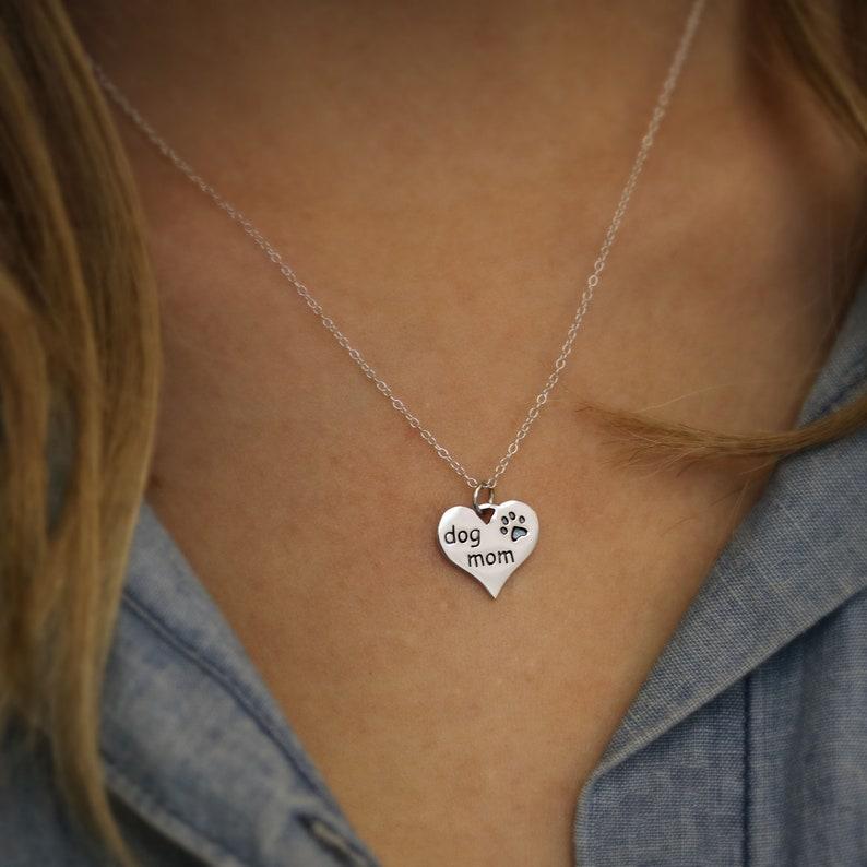 Sterling Silver Dog Lover Gift for Dog Lover Necklace Dog Mom image 0
