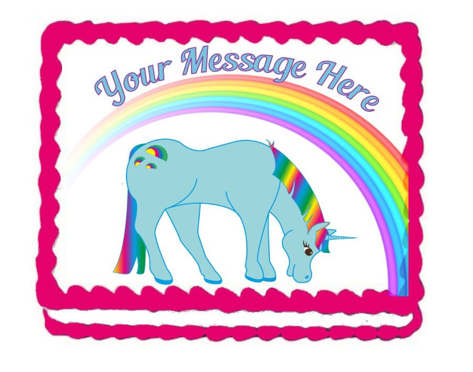 Unicorn Edible Image Cake Toppers Page Two
