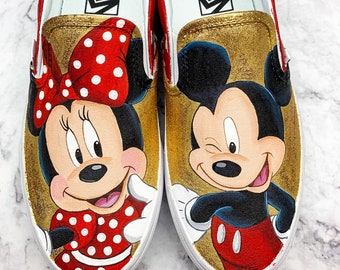 d8c5472202 Minnie and Mickey Hand Painted shoes
