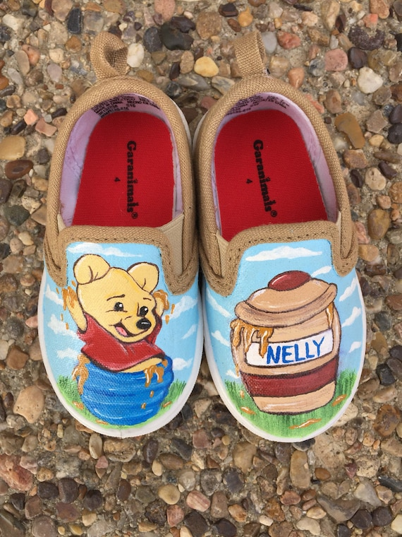 538c352a392 Winnie the Pooh Handpainted shoes