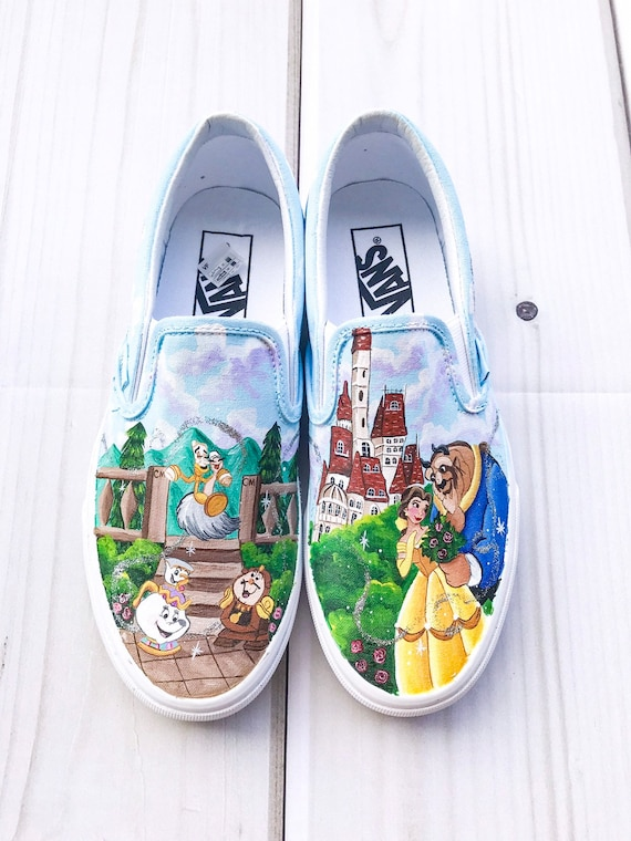 f3f9cbdfac Beauty and the Beast painted Vans